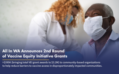 All In Washington Announces Second Round of Vaccine Equity Initiative Grants with $395K for Community-based Organizations
